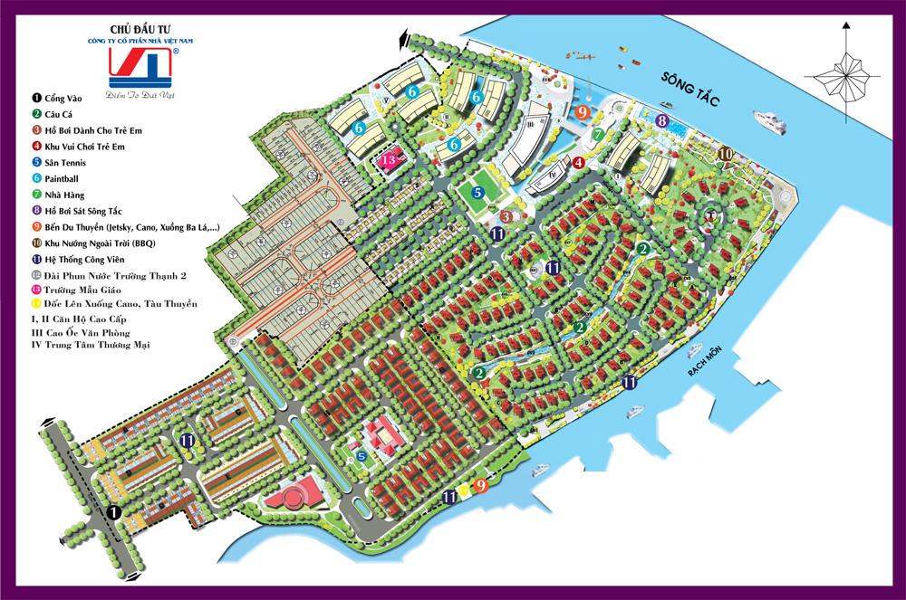 tổng mặt bằng dự án nhà ở quận 9 The Boat Club Residences