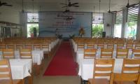 Phòng hội nghị với sức chứa 300 chỗ thiết kế theo không gian mở,thoáng mát.